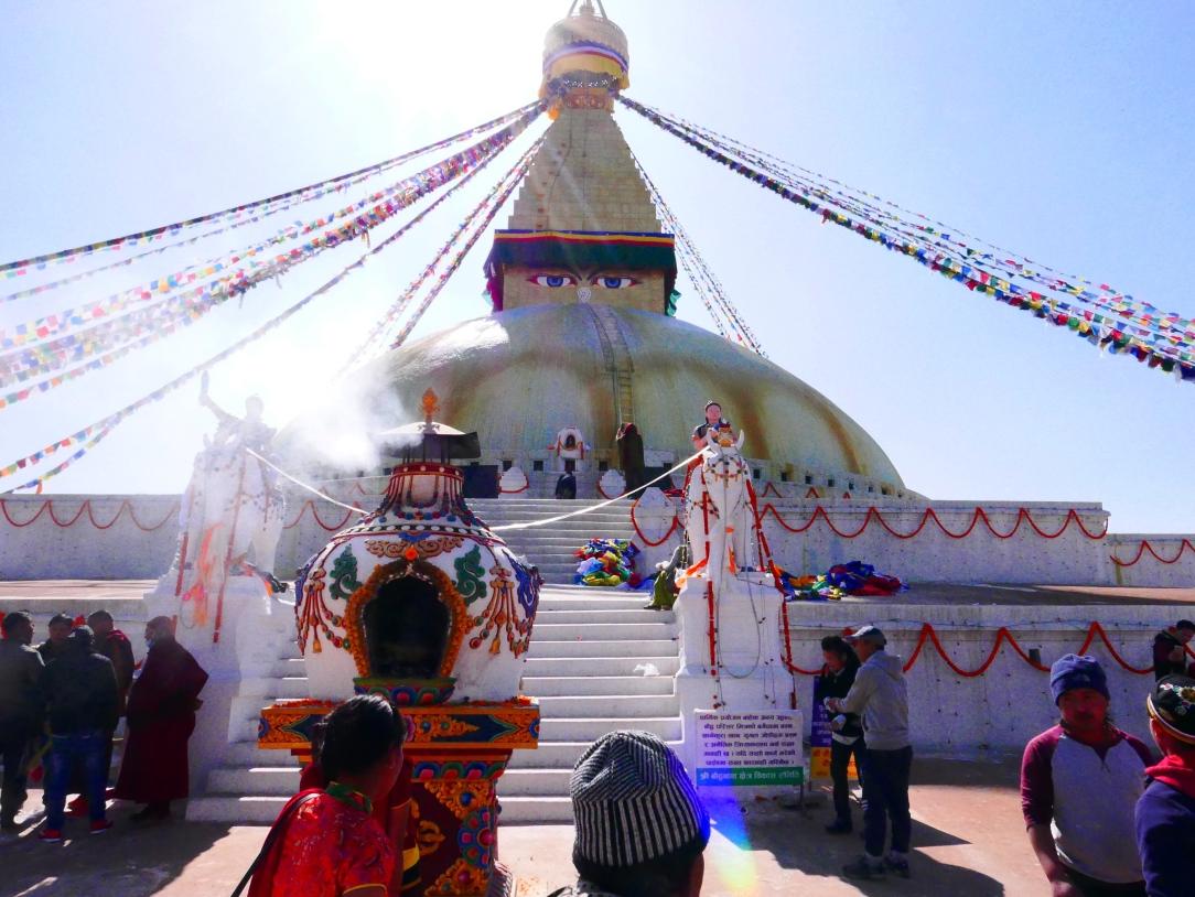 The stupa entrance for worship.