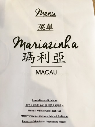 Mariazinha, Macau, China, Food