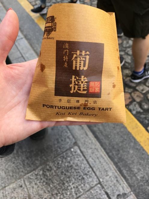 Macau, China, Street Food, Egg Tart, Portuguese