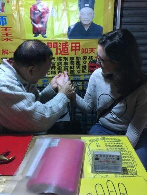 Night Market, Hong Kong, Temple Street, Fortune Teller, Palm Reader